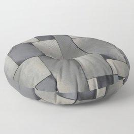Theo van Doesburg - Composition in Gray - Rag-Time - Abstract De Stijl Painting Floor Pillow