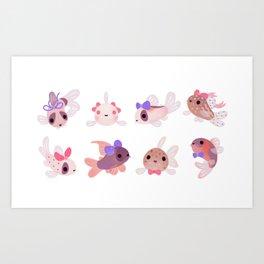 Ribbon corydoras Art Print
