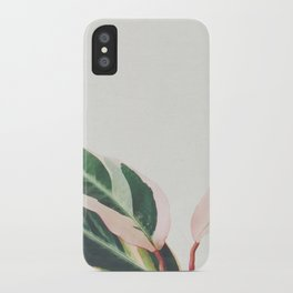 Pink Leaves III iPhone Case