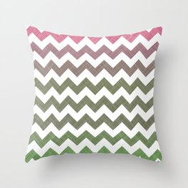 Pink Roses in Anzures 3 Chevron 2T Throw Pillow