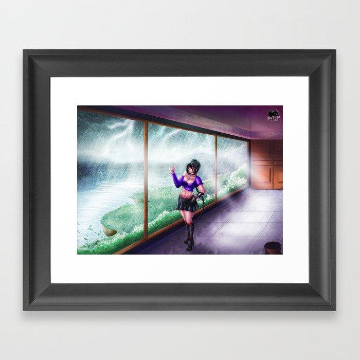 ecchi anime girl storm framed art print by xiraus society6 rh society6 com