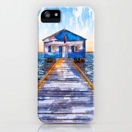 Lake Jetty To Cabin USA - Jetties Around The World iPhone Case