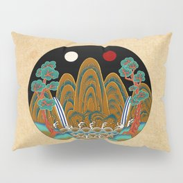 Minhwa: Sun, Moon and 5 Peaks: King's painting C_2 Type Pillow Sham