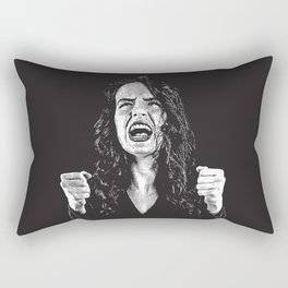 Woman Fed Up, Angry and Stressed Out Rectangular Pillow
