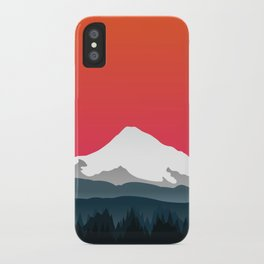 Mount Hood Winter Forest - Sunset iPhone Case