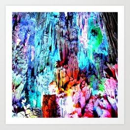 Cavern in Greece Art Print