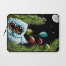 TINY BABY OWL - 1ST CHRISTMAS TREE LIGHTS Laptop Sleeve
