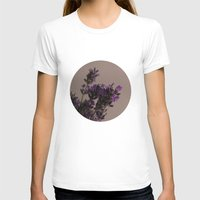 lavender T-shirts featuring Lavender by tinaperko