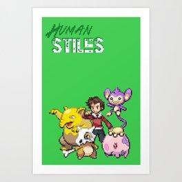 PokeWolf: Stiles Stilinski Art Print