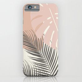 Minimal Monstera Palm Finesse #4 #tropical #decor #art #society6 iPhone Case