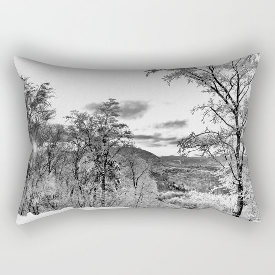 Vermont Winter Landscape Rectangular Pillow