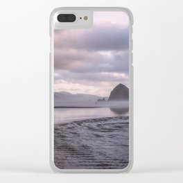 Looking at the mountains Clear iPhone Case