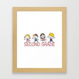 Second Grade School Framed Art Print