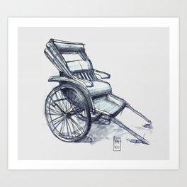 rickshaw japan Art Print
