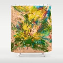 Springtime Color Explosion Shower Curtain