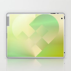 Danish Heart Mint Gold Laptop & iPad Skin
