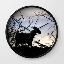 Goat silhouette Wall Clock