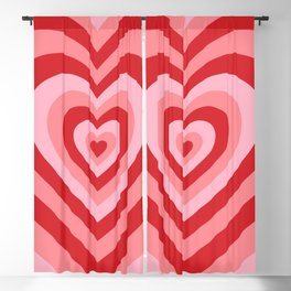 70s psychedelic pink heart Blackout Curtain