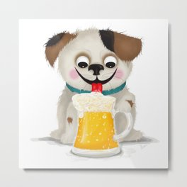 I love beer Metal Print