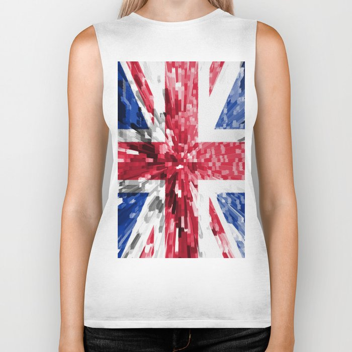 Extruded Flag of the United Kingdom Biker Tank