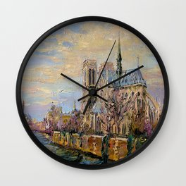 Spring in Paris Wall Clock