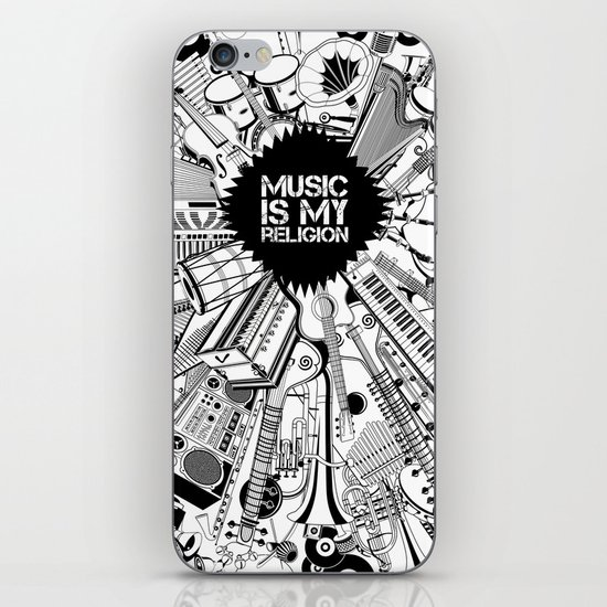 Music is my religion. iPhone & iPod Skin