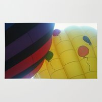 hot air balloons Area & Throw Rugs featuring Hot Air Balloons by merialayne