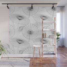Japanese Umbrella pattern #9 Wall Mural