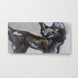 Cat, elegant animal, traditional art Metal Print