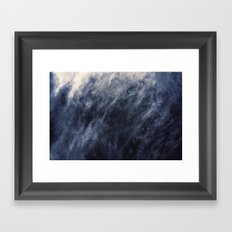 Blue Clouds, Blue Moon Framed Art Print