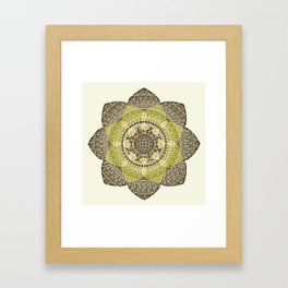 Hena Flower Framed Art Print