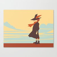 moomin Canvas Prints featuring Snufkin by Anneliese Mak