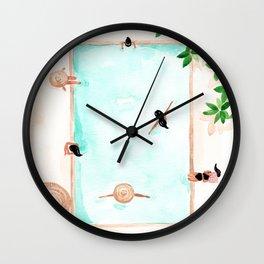 Pool Day Wall Clock
