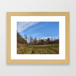 View up the hill Framed Art Print