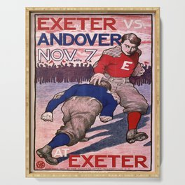 Vintage poster - Exeter vs. Andover College Football Serving Tray