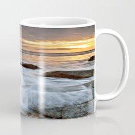 Stormy Shoreline ⛅ Sunset Coffee Mug