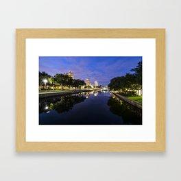Riverside Blues Framed Art Print