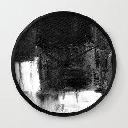 melt into darkness Wall Clock
