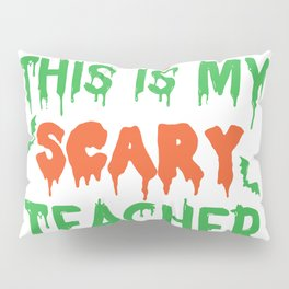 Lustiges Kürbis Scary Lehrer Kostüm Design für Halloween product Pillow Sham