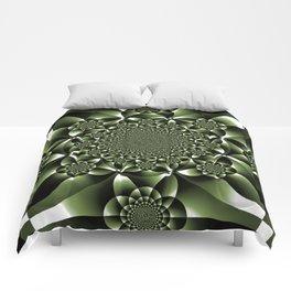 Green Forest Leaf Petals Comforters
