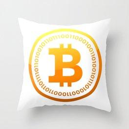 BITCOIN Symbol CRYPTO Throw Pillow