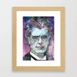 GUSTAV MAHLER - watercolor portrait.4 Framed Art Print
