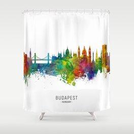 Budapest Hungary Skyline Shower Curtain