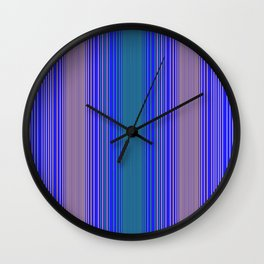 mediterranean stripe Wall Clock