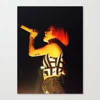 hayley williams Canvas Prints featuring Hayley Williams by Alex King