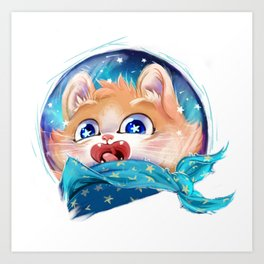 Space Kitty! Art Print