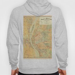 Map Of Budapest 1884 Hoody