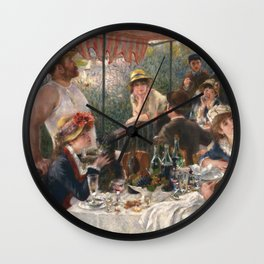 Auguste Renoir - Luncheon of the Boating Party (Le déjeuner des canotiers) Wall Clock