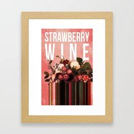 Strawberry Wine in Punch Framed Art Print