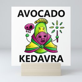 Avocado Kedavra - Death Eater Avocado with Wand Mini Art Print